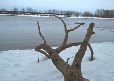 Фото зимней Москвы-реки в районе Воскресенска